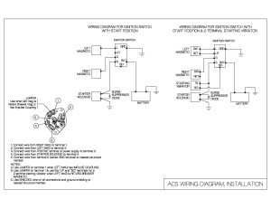 ignition switch wiring diagram acs products company. Black Bedroom Furniture Sets. Home Design Ideas