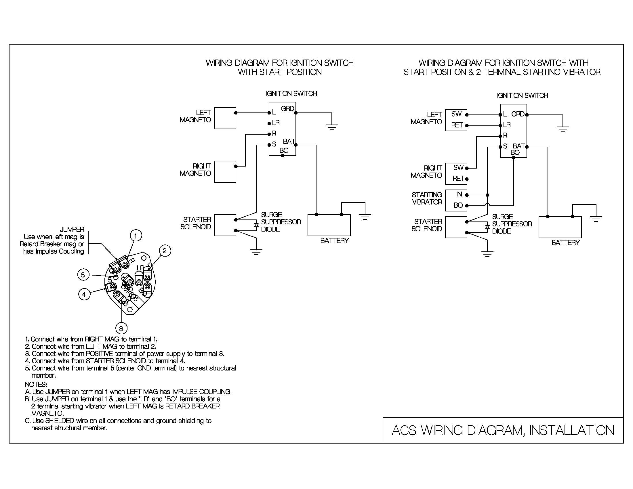 ignition switch wiring diagram acs products company rh acsproducts co Chevy Ignition Switch Wiring Diagram how to wire a magneto ignition switch